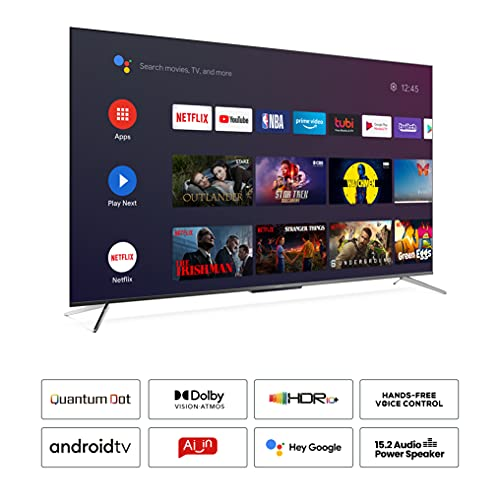 iFFALCON 139 cm (55 inches) 4K Ultra HD Certified Android Smart QLED TV 55H71 (Metallic Black) (2021 Model) | Dolby Vision & Atmos 2