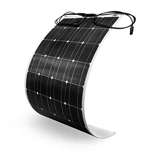 Green Cell (100W 12V 18V) ETFE Panel Solar Flexible GC Monocristalino Fotovoltaico Módulo Célula para batería de 12V, Coche, Barco, Autocaravana, Caravana, Toits, RV con MC4 Conector