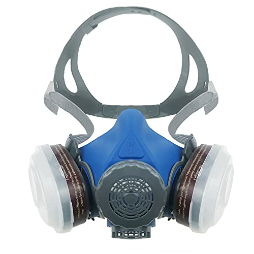 SYINE Half Face Reusable Respirator Spray Paint Gas Mask Respiratory Protection...