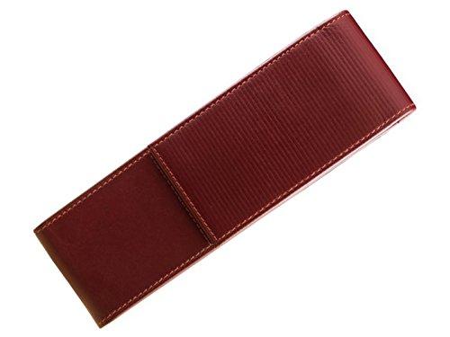 LAMY A 315 elegantes Leder-Etui aus hochwertigem Nappaleder in der Farbe Rot mit charakteristischer Prägung – für 2 Schreibgeräte geeignet