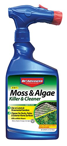BioAdvanced 704710B Moss and Algae Killer Ready-To-Spray, 32 oz