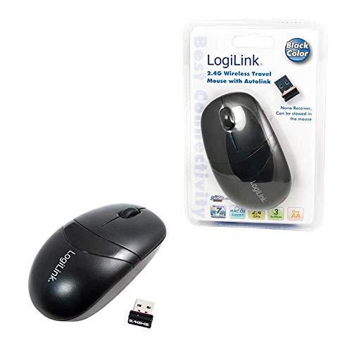 LogiLink ID0069 Optisch Mini Funk Maus (2,4GHz, 1000dpi) schwarz