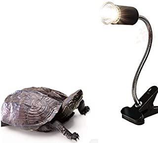 Aquarium Stand,Reptile Lamp Stand for E27 Lamp Holder,Such As Pet UVB Bulbs, Ceramic Heating Bulbs(Not Including Bulb) (Bl...