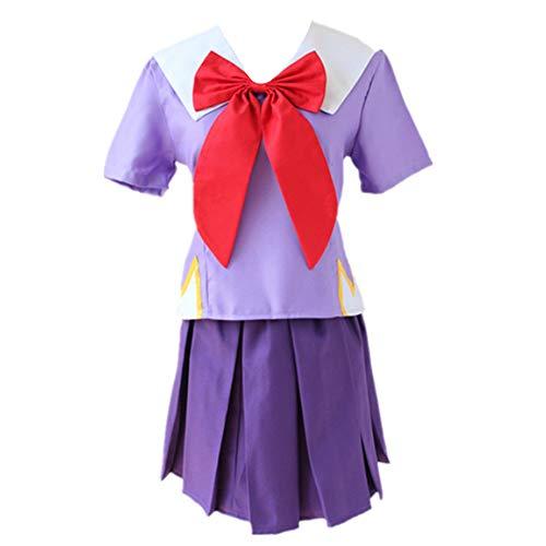 Anime The Future Diary Cosplay Costumes Yuno Gasai Women School Uniforms Halloween Carnival Party (M) Purple