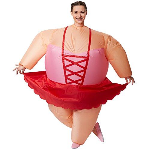 dressforfun 301319 Selbstaufblasbares Unisex Kostüm Ballerina | Batteriebetrieben | Uneingeschränkte Bewegungsfreiheit