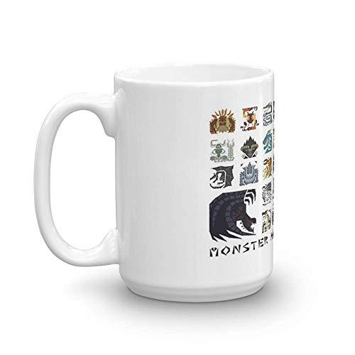 Diseño 'Hunt Me' de Monster Hunter 4 Ultimate. Tazas de café clásicas...
