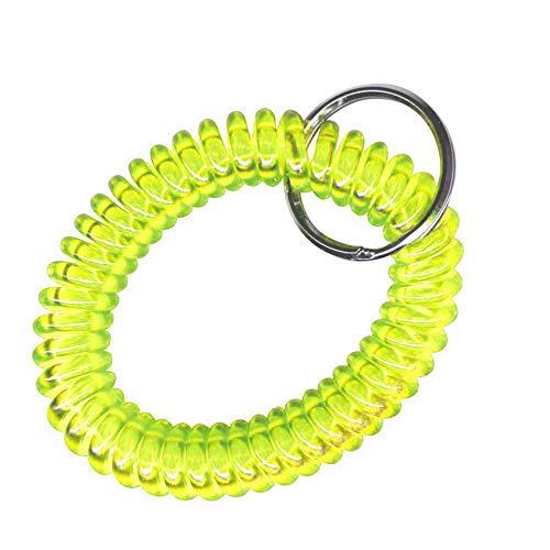 Alfa Llavero Espiral Muelle Extensible Ideal como Pulsera Gimnasio taquilla
