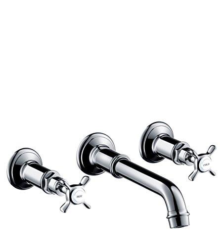 AXOR Wasserhahn Montreux Unterputz 3-Loch Waschtischarmatur, Wandmontage, Chrom