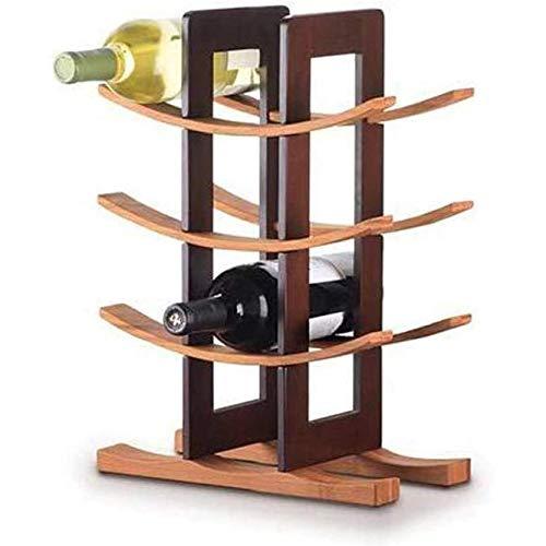 Soporte De Botella De Madera para El Hogar Champagne Wine Rack Soporte De Botella De Vino Soporte De Botella para El Hogar Champagne Whisky Wijnrek Creative Bar,B