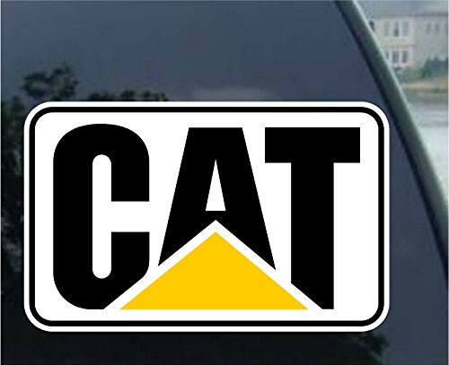 "Crawford Graphix 2"" Pair of CAT Stickers Decals Hard Hat Toolbox Diesel Bull Dozer Escavator Backhoe Loader"