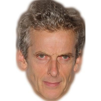Celebrity Cutouts Peter Capaldi (Clean Shaven) Maske aus Karton