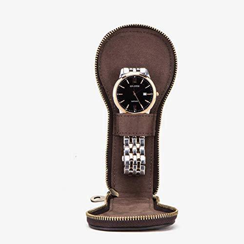 Mementoy - Bolsa de almacenamiento para reloj de viaje de cuero, accesorios para reloj de viaje