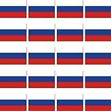 20 Stück 2cm Russland Flagge Fahne RC Modellbau Mini Aufkleber Sticker Modellbauaufkleber