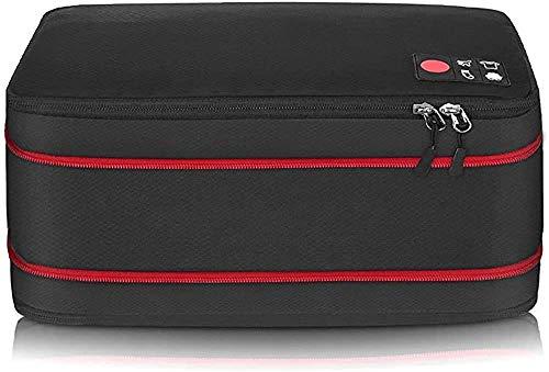 旅行用収納バッグ 超大容量 圧縮バッグ ファスナー式 スーツケース 機内持込 防水 軽量 旅行便利グッズ 出張 ジム 温泉 (black)