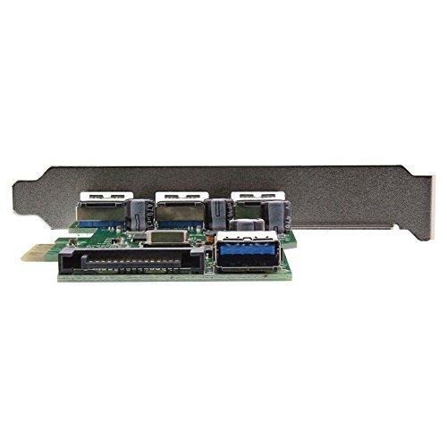 InLine 18417-USB 3.0, 3Externe, 1Intern, PCIe, Stromversorgung SATA Power, schwarz