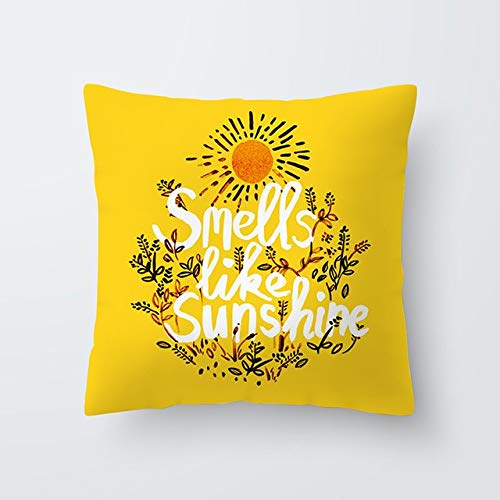 WZNB Cushion Cover Pillow Cover Yellow Pillowcase Sweet Summer Cushion Cover Pillowcase Home Sofa Living Room 25