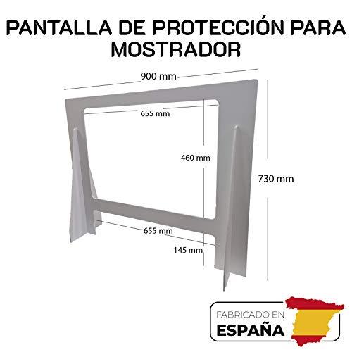 Pantalla Protección mostrador 900x730mm. Mampara