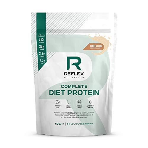 Reflex Nutrition Diet Shake | Diet Meal Replacement Shake | 108 Calories | Diet Protein Powder (Vanilla Fudge) (600g)