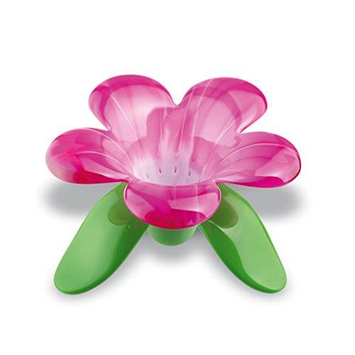koziol Teesieb Audrey, thermoplastischer Kunststoff, transparent pink/weiß, 133 x 135 x 88 cm