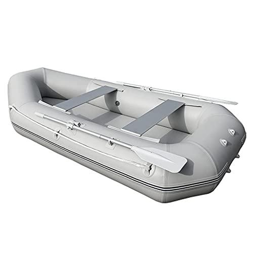 WBJLG Kayak Inflable, Bote acuático portátil para 2 Personas con remos de Aluminio, Bote de excursión Plegable para Pescar o Jugar en Lagos, ríos