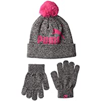 PUMA Kids' Toddler Evercat Youth Beanie and Glove Set