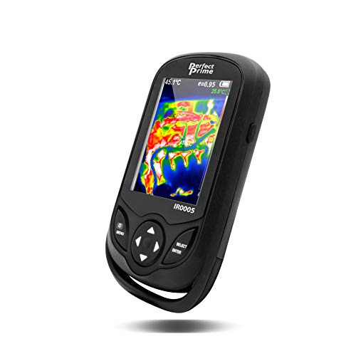 PerfectPrime IR0005 Infrared (IR) Thermal Imager & Visible Light Camera with IR Resolution 35,200 Pixels, Thin Size, Black