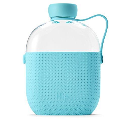Hip 22-oz/650ml botella de agua Tritan con funda de silicona y side-strap, sin BPA