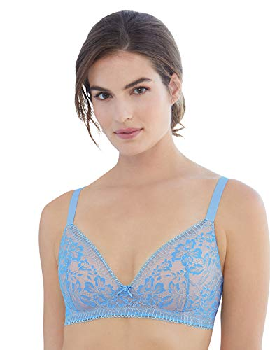 Glamorise Women's Full Figure Plus Size Shape Enhancing Padded A Cup Bra #3015, Light Blue, 56A
