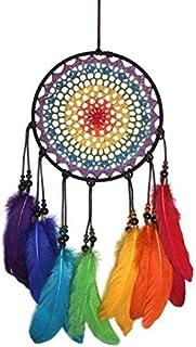 Dream Catchers, Colorful Feather Dream Catcher Decorations for Bedroom Handmade Rainbow Dreamcatcher