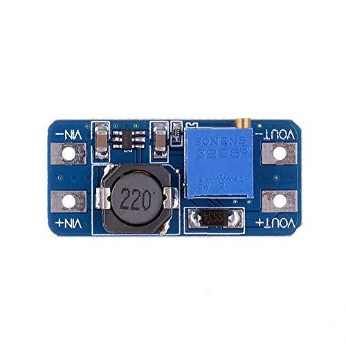 Módulo Pequeño Laboratorio DIY DC-DC Boost ajustable Módulo 2A DC DC Boost de hasta Paso del módulo del convertidor 2V-24V a 5V 9V 12V 28V del módulo de alimentación Booster Módulo de alimentación