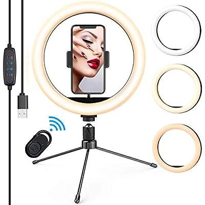 Amazoncom  LED Ring Light 10 with Tripod