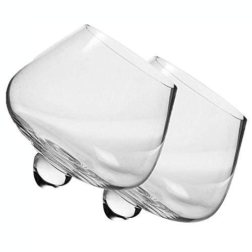 Transparante Tumbler Whiskey Glas, Bar Creatieve Loodvrije Crystal Glass Shake Wijnglas -235Ml Geen merk