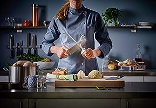 WÜSTHOF Wetzstahl 26 cm, Grand Prix (4477-7), Edelstahl Messerschärfer für hochwertige Küchenmesser