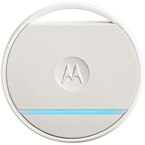 Motorola Connect Coin - Schlüssel- und Telefonfinder, Fernauslösung der Smartphone-Kamera und Notruffunktion, Weiß