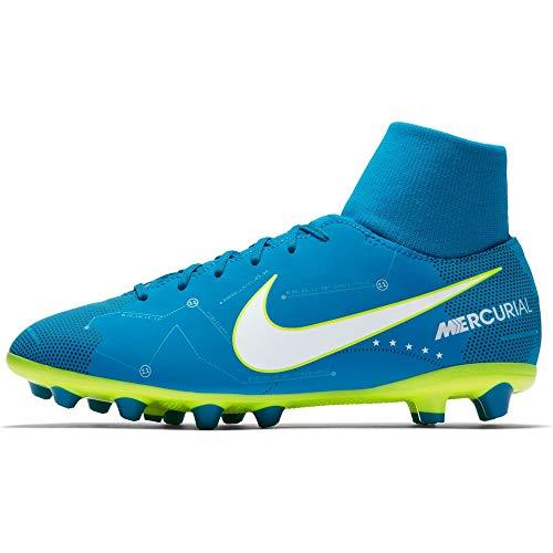 Nike JR Mercurial Vctry6 DF NJR Agp Scarpini Calcio Bambino Azzurri
