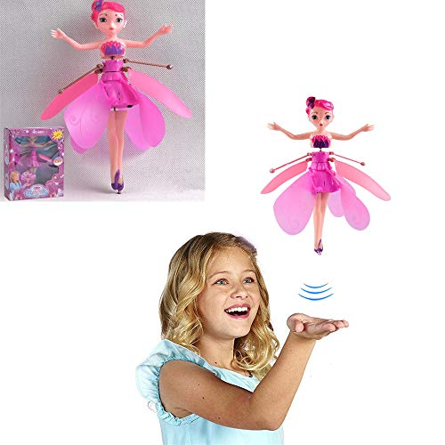 Cute Flying Fairy Doll, Magic Electronic Infrarrojo Control de inducción Princess Dolls Toy (2 Cajas, Rosado)
