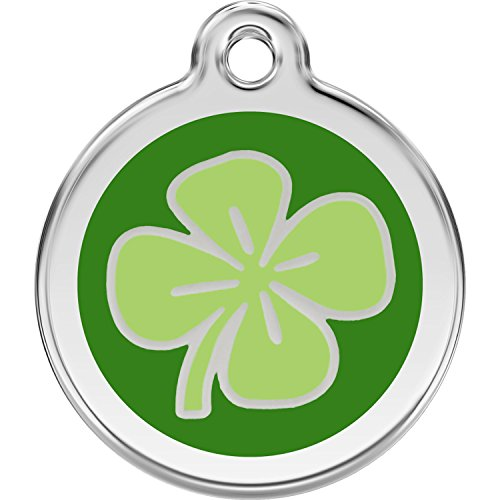 Red Dingo Personalized Clover Pet ID Dog Tag (Small)