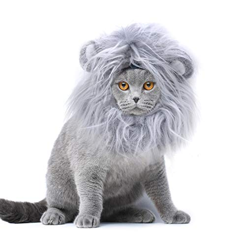 Onmygogo Lion Mane Wig for Cats ...