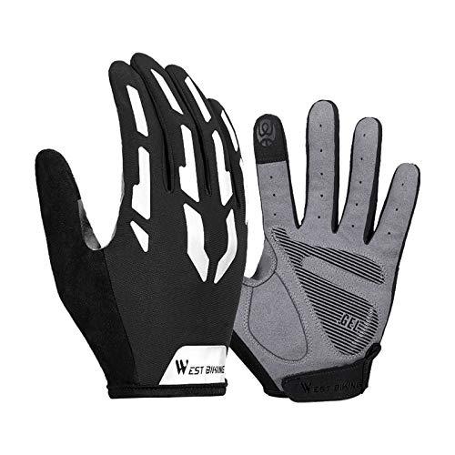 Generic 1 par de guantes de ciclismo para hombres bicicleta de montaña almohadilla de Gel antideslizante antigolpes guantes de pantalla táctil transpirables - XXL