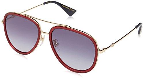 Gucci Womens Women's Aviator 57Mm Sunglasses