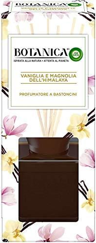 Airwick Botanica, Profumatore per Ambienti con Diffusore a Bastoncini, fragranza Vaniglia e Magnolia dell'Himalaya, fragranza naturale - Confezione da 80 ml