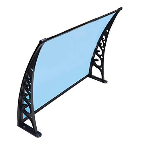 Lw Canopies huisdeurluifel, luifel overkapping huisdeurluifel polycarbonaat kunststof lessenaarsafdak 60×100cm