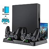 BEBONCOOL Support Manette PS4, Dualshock 4 Fast Charging Ventilateur PS4, Support PS4 pour PS4 Slim/PS4 Pro, Support PS4 Pro avec ventilateur de refroidissement
