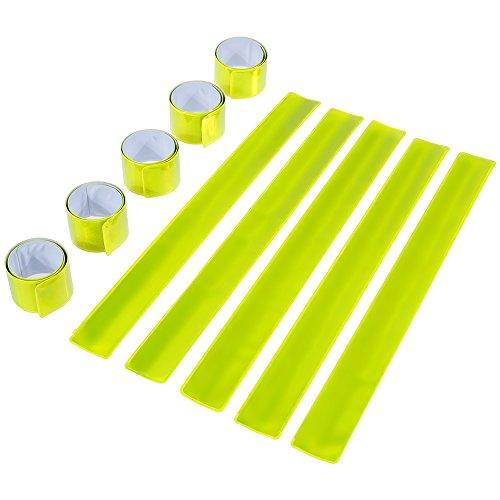 GOLDGE 10st Schnapparmband Reflektorbänder Klatscharmband Reflektierend Sicherheitsband Kinder