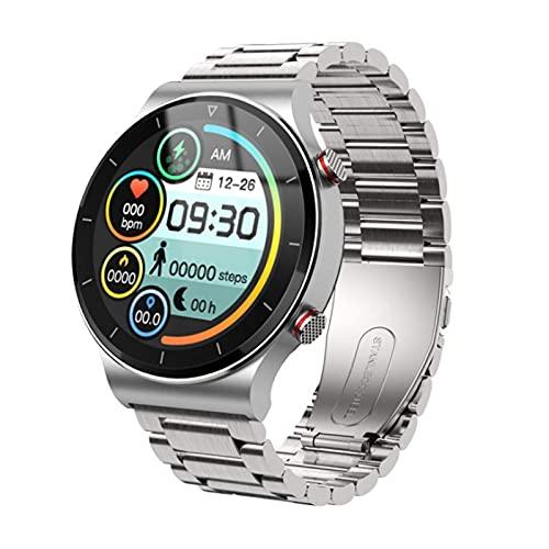 HYLK Reloj Inteligente Pulsera de Fitness Ip67 Entrenamiento de respiración a Prueba de Agua Detección de frecuencia cardíaca Llamada Bluetooth Podómetro Masculino y Femenino Adecuado para Todo t