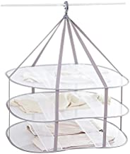 Looca 3-Tier Folded Mesh Clothes Hanging Dryer Sweater Drying Rack 30.3
