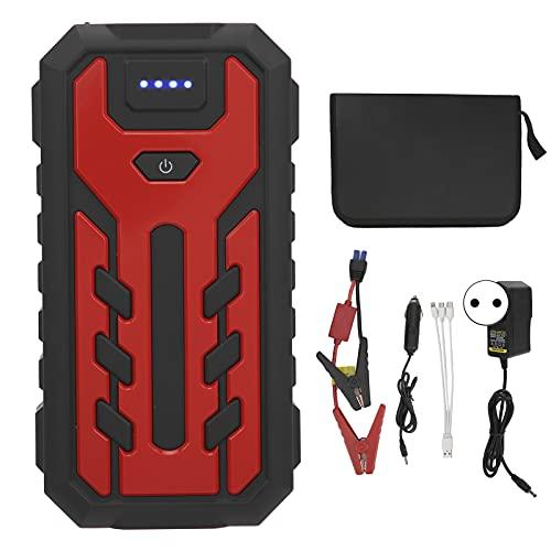 Yctze Car Jump Starter, 28000mAh 5V USB3.0 Amplificador de batería LED portátil Banco de energía de automóvil de respaldo para teléfono móvil Cámara portátil(Enchufe europeo 220V)