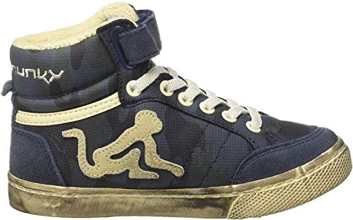 DrunknMunky Jungen Boston Camu Hohe Sneaker, Blau (Navy Blue K20), 30 EU