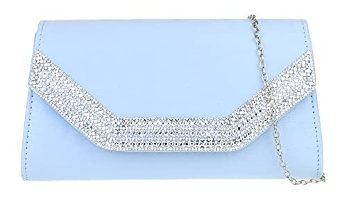 Girly Handbags Marco bolso de embrague de Diamante (Serenidad)