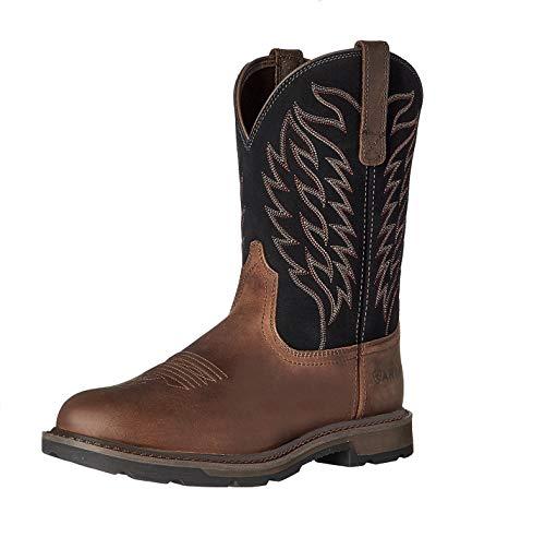 Ariat Men's Groundbreaker Work Boot, Brown/Black, 9